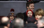 Bieber fever hits David Beckham's son
