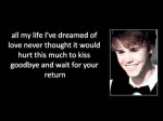 Justin Bieber – Come home to me With Lyrics