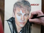 Drawing And Coloring Justin Bieber (Mistletoe Cover) By Jardc87