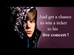 Win a free ticket to Justin Bieber's concert