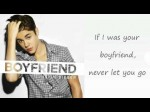 Justin Bieber – Boyfriend (Lyrics On Screen)