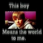 justin means the world to me