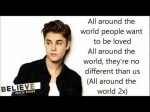 all around the world – justin bieber LYRICS #Believe