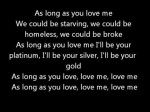 As Long As You Love Me – Justin Bieber ft. Big Sean – Official Lyrics