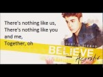 Justin Bieber – Nothing Like Us Lyrics (Believe Acoustic)