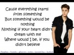 Believe –  Justin Bieber Lyrics