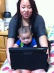 Raiden and auntie Tammy watching Justin bieber lol