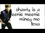 Justin Bieber ft. Sean Kingston- Eenie Meenie [Lyrics on Screen]