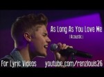 As Long as You Love Me (Acoustic) – Justin Bieber (Lyrics)