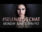#selenalivechat — Monday June 3, 4pm PT!