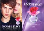 Someday by JUSTIN BIEBER 2011 US recto-verso avec bande parfumeacutee (Macy's)
