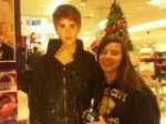 Justin Bieber and i :) i look gross though :'( Barf barf