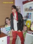 Olivia Justin Bieber and Sophie – January 2012