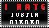 I Hate Justin Bieber Stamp
