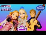 Elsa and Anna at Justin Bieber's Concert – Play Doh Disney's Frozen Barbie Doll Princess Episodes
