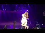 Justin Bieber HUGS Ariana Grande at Inglewood, California Concert 04/09/2015